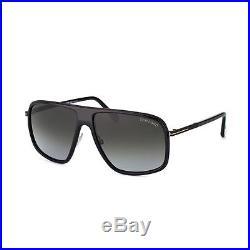 TOM FORD Aviator Herren Sonnenbrille QUENTIN FT0463S 01B Schwarz / Grau NEU+Etui