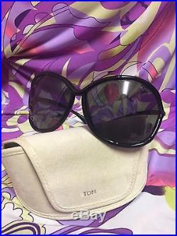 TOM FORD Black Framed Oversized Sunglasses
