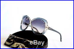 TOM FORD Butterfly Sunglasses MARGOT TF226 20B Transparent Grey