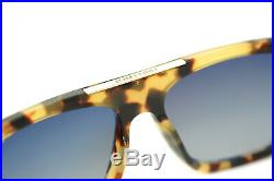 TOM FORD CECILIO 2 0628 56K Men Large Square Sunglasses BROWN HAVANA ROVIEX GREY