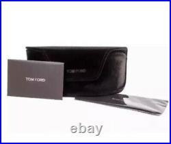TOM FORD Carlo-02 FT058 TF 587 01V 58mm Black Gold Grey Blue Lens Sunglasses