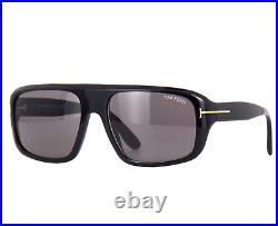 TOM FORD DUKE FT0754 01A Sunglasses Black Frame Dark Gray Lenses 59mm TF754