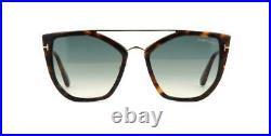 TOM FORD Dahlia-02 0648 56P Havana & Gold /Blue Gradient Sunglasses Sonnenbrille