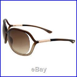TOM FORD Damen Sonnenbrille RAQUEL FT0076S 38F Braun / Braun verlauf NEU + Etui