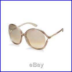 TOM FORD Damen Sonnenbrille RHI FT0252S 33G Pink Beige Gold verspiegelt NEU Etui