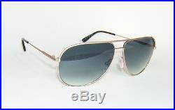 0b6b3f49b TOM FORD ERIN FT0466 29P ROSE GOLD BLUE GRADIENT AVIATOR SUNGLASSES 59 mm