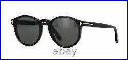 TOM FORD FT 0591 01A Sunglasses Shiny Black Frame Smoke Lenses 51mm