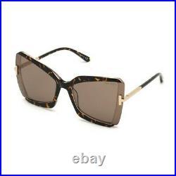 TOM FORD FT-0766-GIA-56J-63 Sunglasses Size 63mm 135mm 19mm Havana Brand New SU