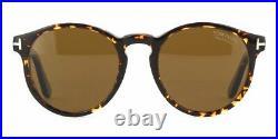 TOM FORD FT0591 52M Sunglasses Vintage Havana Frame Brown Polarized Lenses 51mm