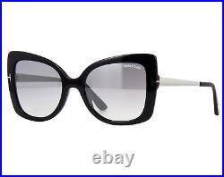 TOM FORD FT0609 01C Sunglasses Black Palladium Frame Gray Silver Lenses 54mm