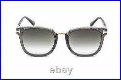 TOM FORD FT0804-K 20B Sunglasses Grey Frame Gradient Smoke Lenses 56mm