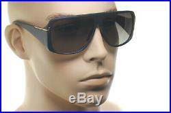 TOM FORD HARLEY POLARIZED TF433 02B Men Square Retro Sunglasses MATTE BLACK GREY