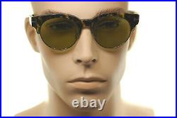 TOM FORD HENRI 2 TF598 55N Mens Large Square Round Sunglasses BROWN HAVANA GREEN