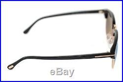 d8cb5df76d7dc TOM FORD HENRY 0248 05X 51mm MEDIUM Men Square Sunglasses GOLD BLACK BLUE  MIRROR