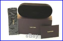 TOM FORD HUGH POLARIZED TF337 01N 55mm Mens Square Sunglasses BLACK GREEN GREY