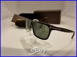 TOM FORD HUGH TF337 01N Shiny Black Polarized Lenses Men Sunglasses size 55-16