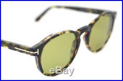 TOM FORD IAN 2 TF591 55N 51mm Men Round Square Sunglasses HAVANA GREEN 0591 New