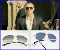 TOM FORD James Bond 007 SKYFALL Pilot SUNGLASSES Gold Blue MARKO 0144 28W 58mm