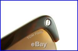 TOM FORD LIANE TF318 52G Women OVERSIZED FLAT TOP Sunglasses BROWN GOLD MIRROR