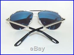 Tom Ford Marko Ft0144 18v Silver Blue Aviator Sunglasses James Bond Skyfall
