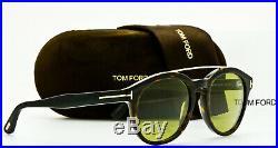 TOM FORD MENS NEWMAN TF515 52N Dark Havana Frame Crystal Green Glass 53mm Lens