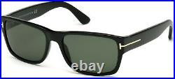 TOM FORD Mason FT0445 01N Shiny Black Green Plastic 58 mm Men's Sunglasses