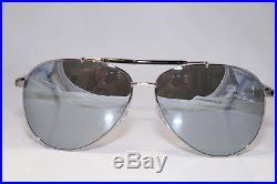 TOM FORD Mens Designer Chrome Sunglasses Silver Aviator RICK TF378 14Q 16409