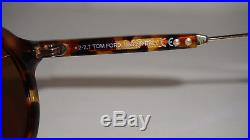 TOM FORD New Sunglasses Havana Brown Gold Brown Grant-02 TF632 55E 48 23 160