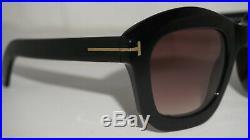 TOM FORD New Sunglasses Julia-02 Black Brown Gradient TF582 01F 50 22 140
