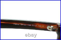 TOM FORD PALMER TF522 05B Mens Medium Square Round Sunglasses BLACK GREY SMOKE