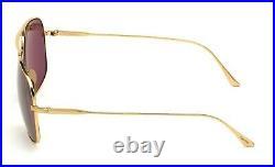 TOM FORD Pilot Men TITANIUM SUNGLASSES Rose Gold Grey JOHN 02 0746 30A 63mm