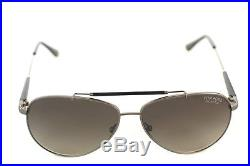 58b0b1f60f2f TOM FORD RICK POLARIZED 0378 10D 60mm Men Large Aviator Sunglasses GUNMETAL  GREY