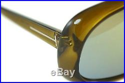 TOM FORD SVEN TF471 96G Mens X-LARGE SHIELD Sunglasses OLIVE GREEN FLASH MIRROR