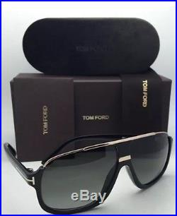 TOM FORD Sunglasses ELIOTT TF 335 01P Black Gold Frame Grey Fade NEW ITALY SALE