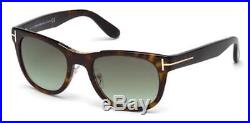 TOM FORD Sunglasses FT0045 52P Dark Havana / Gradient Green 51MM