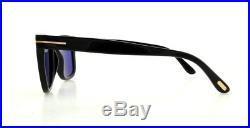 TOM FORD Sunglasses FT0336 LEO 01V Shiny Black 52MM
