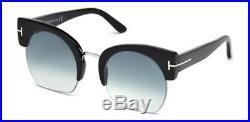 TOM FORD Sunglasses FT0552 SAVANNAH-02 01W Shiny Black 55MM