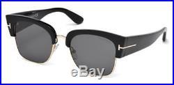 TOM FORD Sunglasses FT0554 DAKOTA-02 01A Shiny Black 55MM