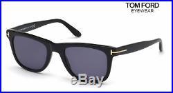 TOM FORD Sunglasses Leo TF336 01V Black/Blue RRP-£203