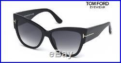 TOM FORD Sunglasses TF371 ANOUSHKA 01B Black / Gradient Smoke RRP-£243