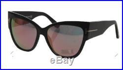 TOM FORD Sunnies ANOUSHKA TF371-01Z Oversized BLACK Cat Eye/PINK Mirror LensNIB