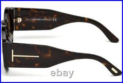 TOM FORD TATIANA-02 Men Women ROUND DEEP SIDE Sunglasses TORTE BROWN 0603 52J