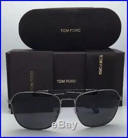 TOM FORD TF 377 09D EDWARD Men's Sunglasses Gunmetal Black Grey POLARIZED Italy