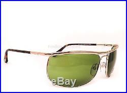 TOM FORD TF 418 28N Men's Ryder Aviator Pilot Sunglasses Gold & Green NEW