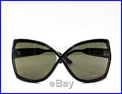 TOM FORD TF 427 01N Julianne Modern Butterfly Sunglasses Glossy Black New