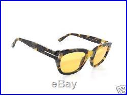 Tom Ford Tf5178 5178 Light Havana /yellow Amber 055 Sunglasses! Custom Brad Pit
