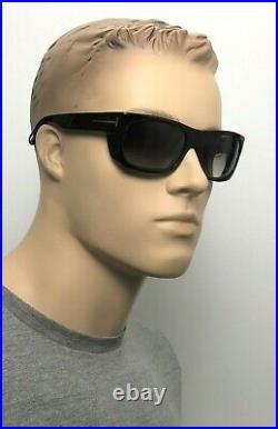 TOM FORD TOBY Men Deep Rectangle Sunglasses TORTE BROWN GRADIENT 0440 52K 56