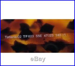 TOM FORD Tatiana-02 TF603 TF 603 55E BROWN HAVANA RETRO Round Sunglasses 47mm