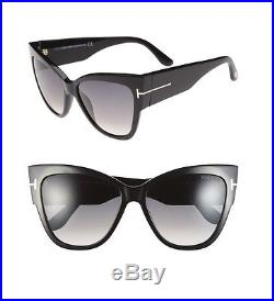 TOM FORD Women Fashion Large Oversized Anoushka Sunglasses FT0371 01Z Black