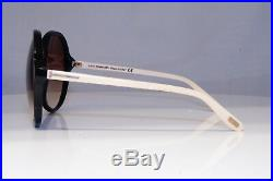 TOM FORD Womens Oversized Sunglasses Black Round WHITE Rhonda TF 187 05F 23332